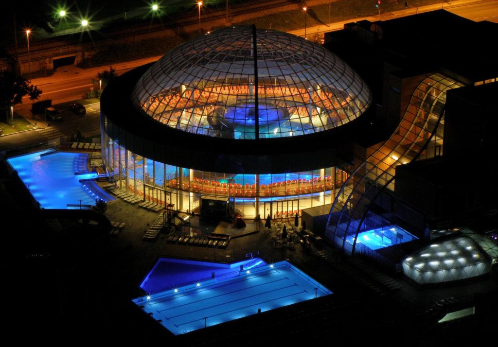 Terme Laško Aquapark at night